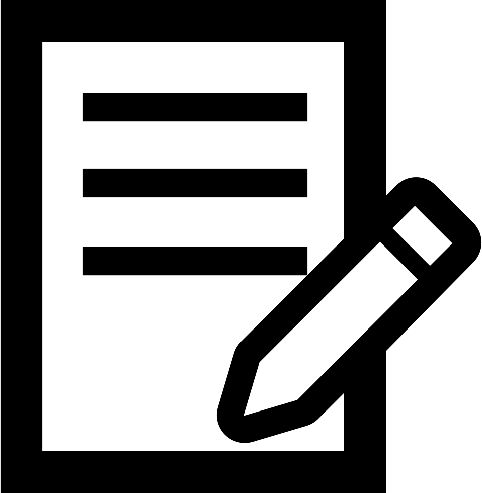 Writing png icon. Pencil on a paper