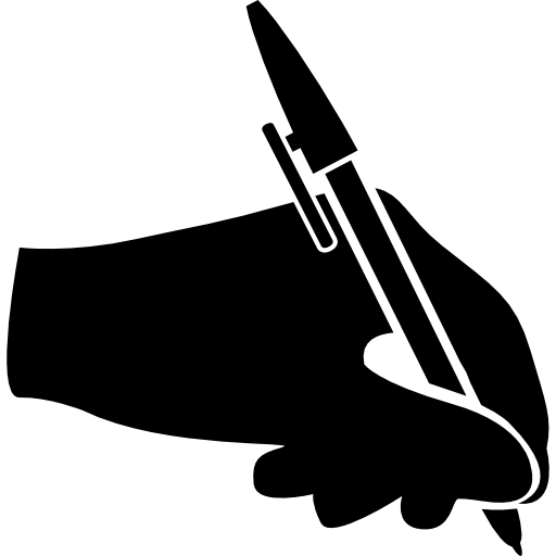 Writing logo png. Hand with ballpen free