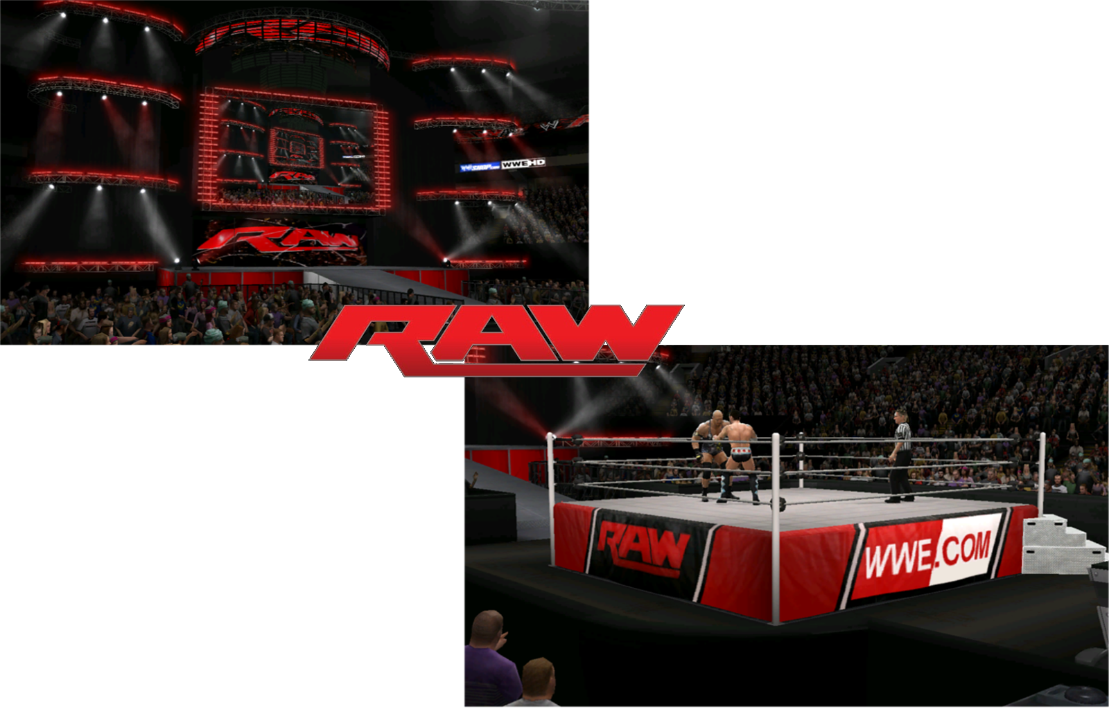 Wwe stage png. Uploaded ps raw creations