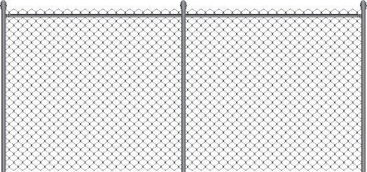 Metal chain fence png. File has a grey