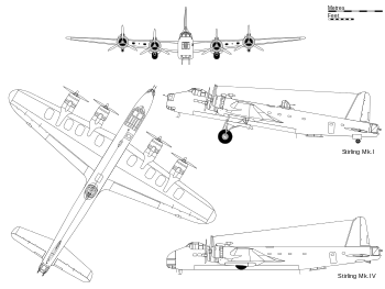 Wwii drawing bomber. Short stirling wikipedia view