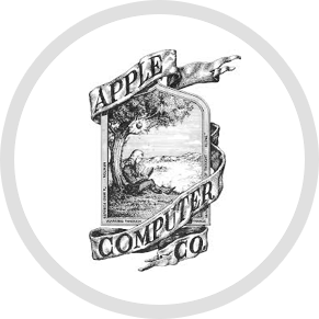 Wwii drawing logo. The apple story logostories