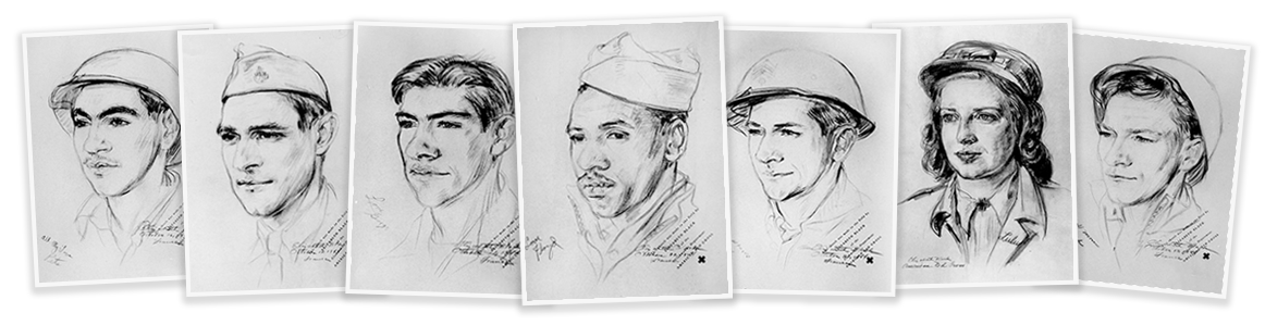 Wwii drawing portrait. Portraits for the home