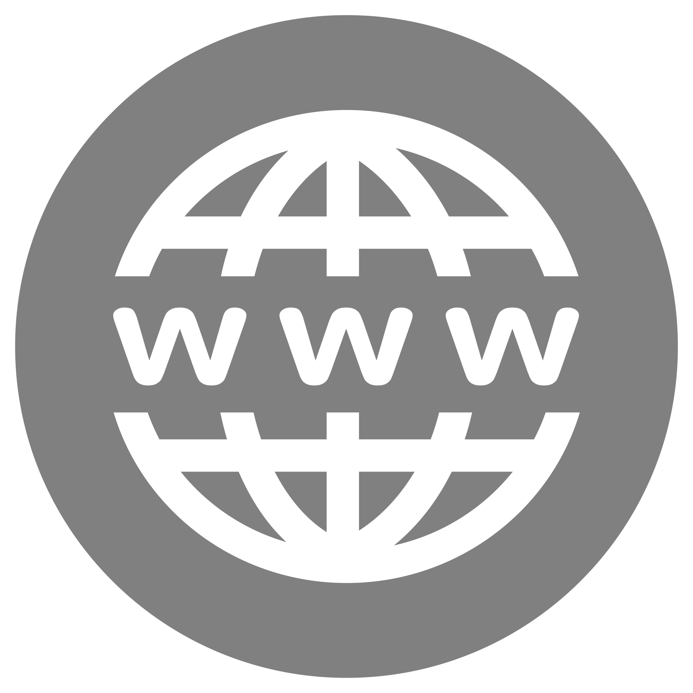 Internet transparent black and white. Www icon on grey
