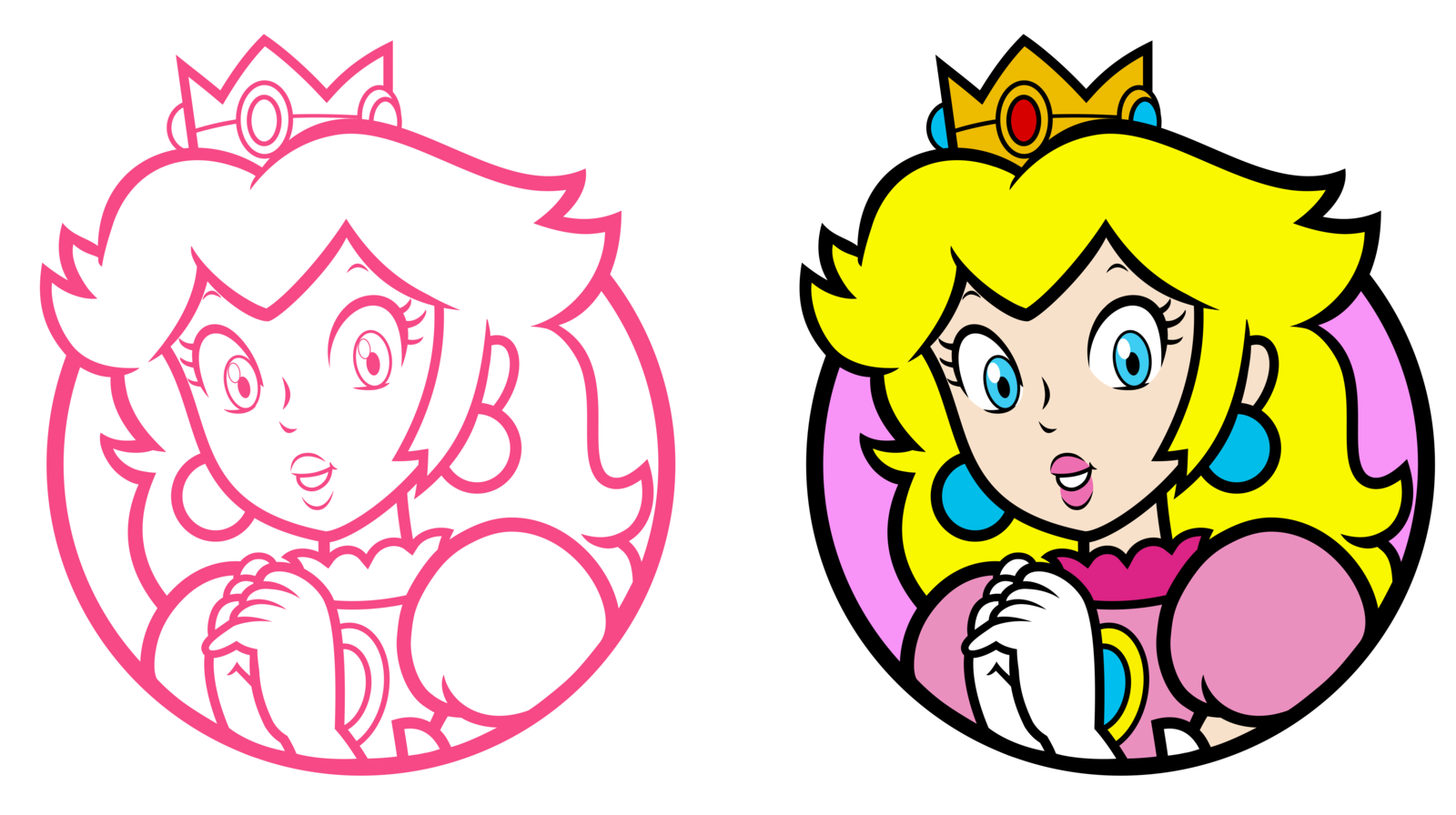 Www vector 3d world. Peach character select icons