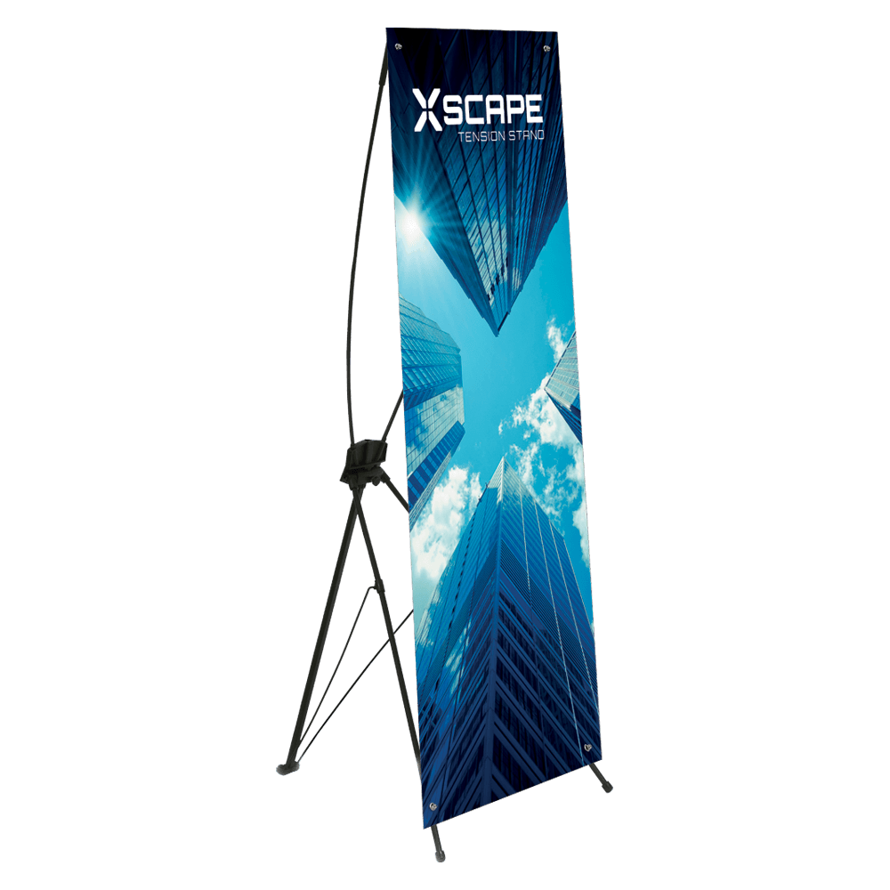 X banner png. Xscape tension stand english