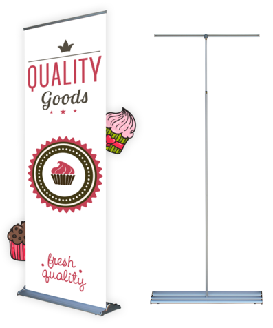 X banner png file. Steppy roll up inch