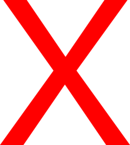 Png red x. Clip art of a