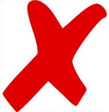 X clipart. Free red mark