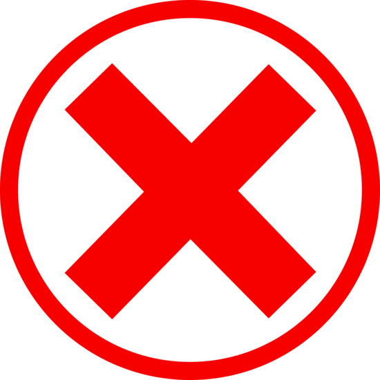 Red circle cross out png. X mark in free