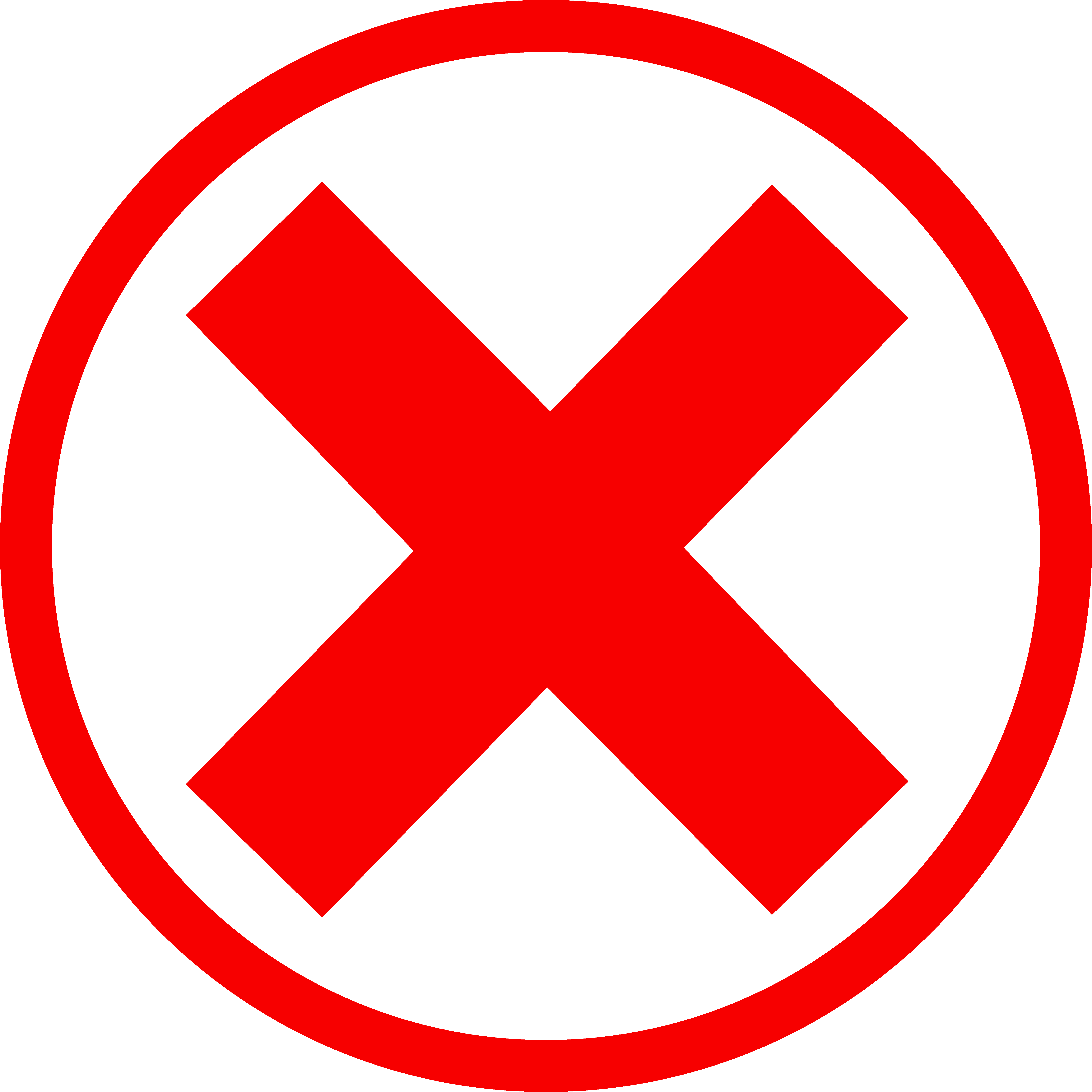 red x mark png
