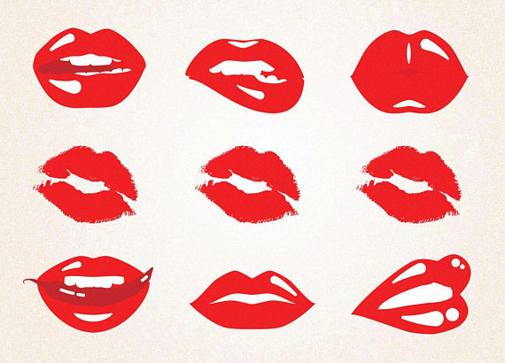 X clipart svg. Red lips lipstick