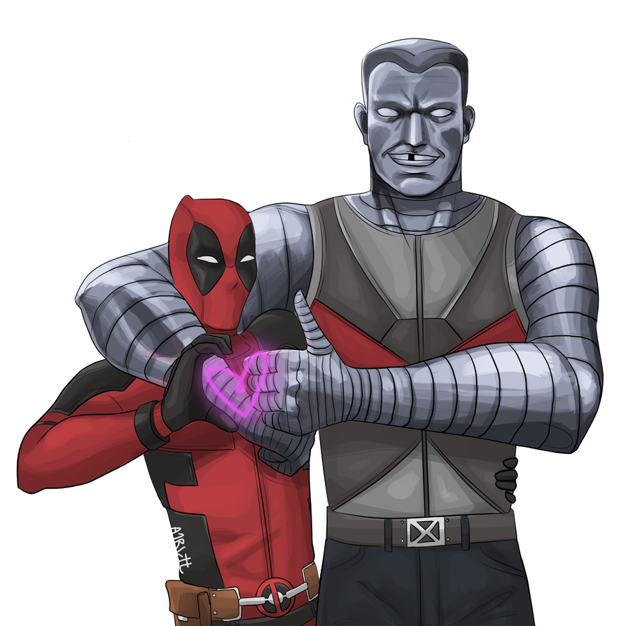 X drawing deadpool. Colossus by arltt on