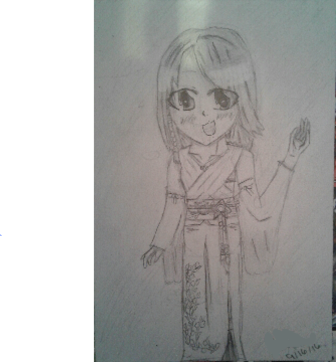 X drawing final fantasy. Yuna old style by