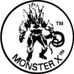 x drawing monster