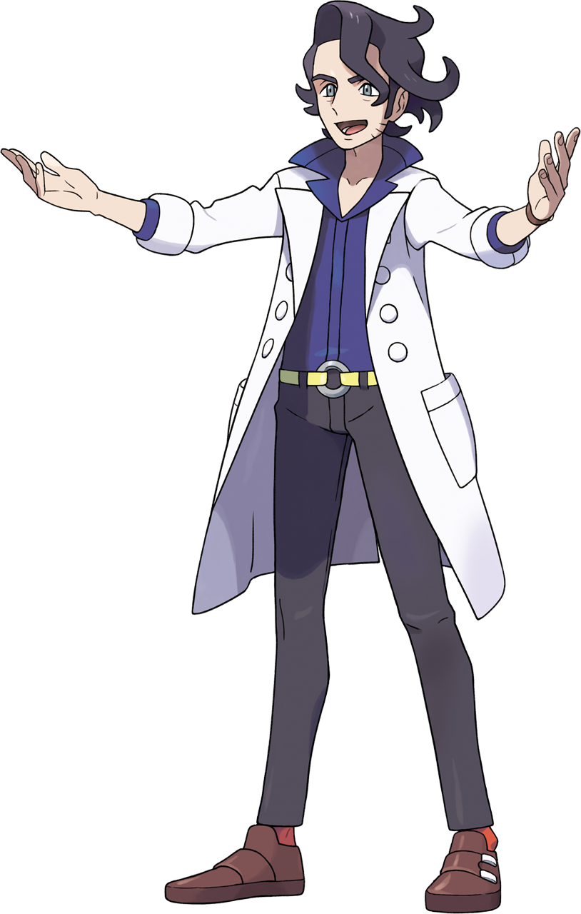 X drawing professor. Sycamore from pokemon y