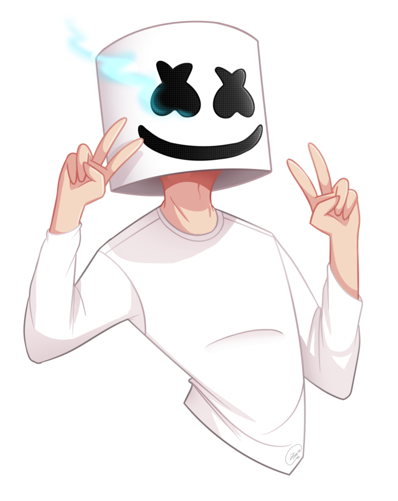 X drawing reader. Silent love male marshmello