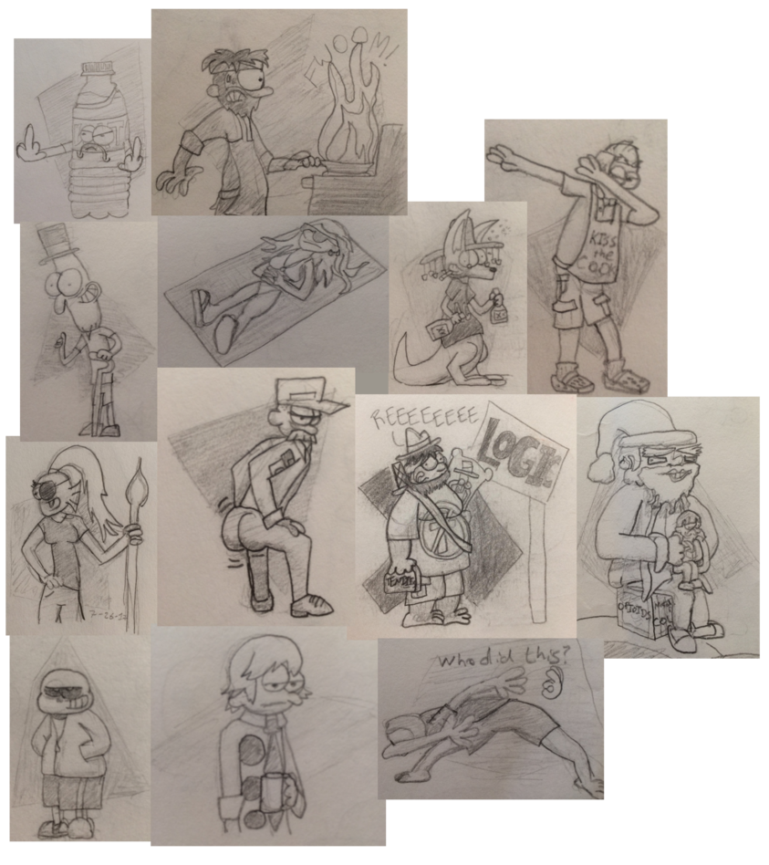 X drawing sketchbook. Shit miscellaneous by jptoony