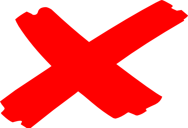 X mark png. Marks the spot clip