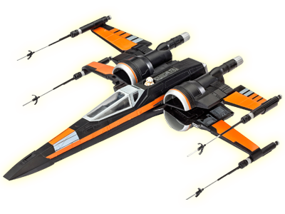 X wing fighter png. Revell poe s star