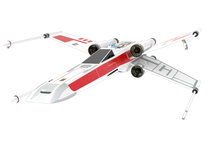X wing fighter png. D cad model library