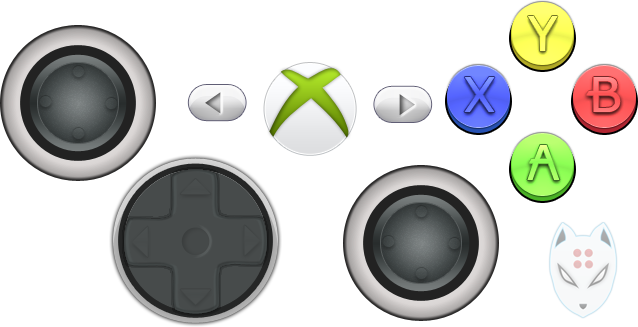 Xbox buttons png. Psd not sure if