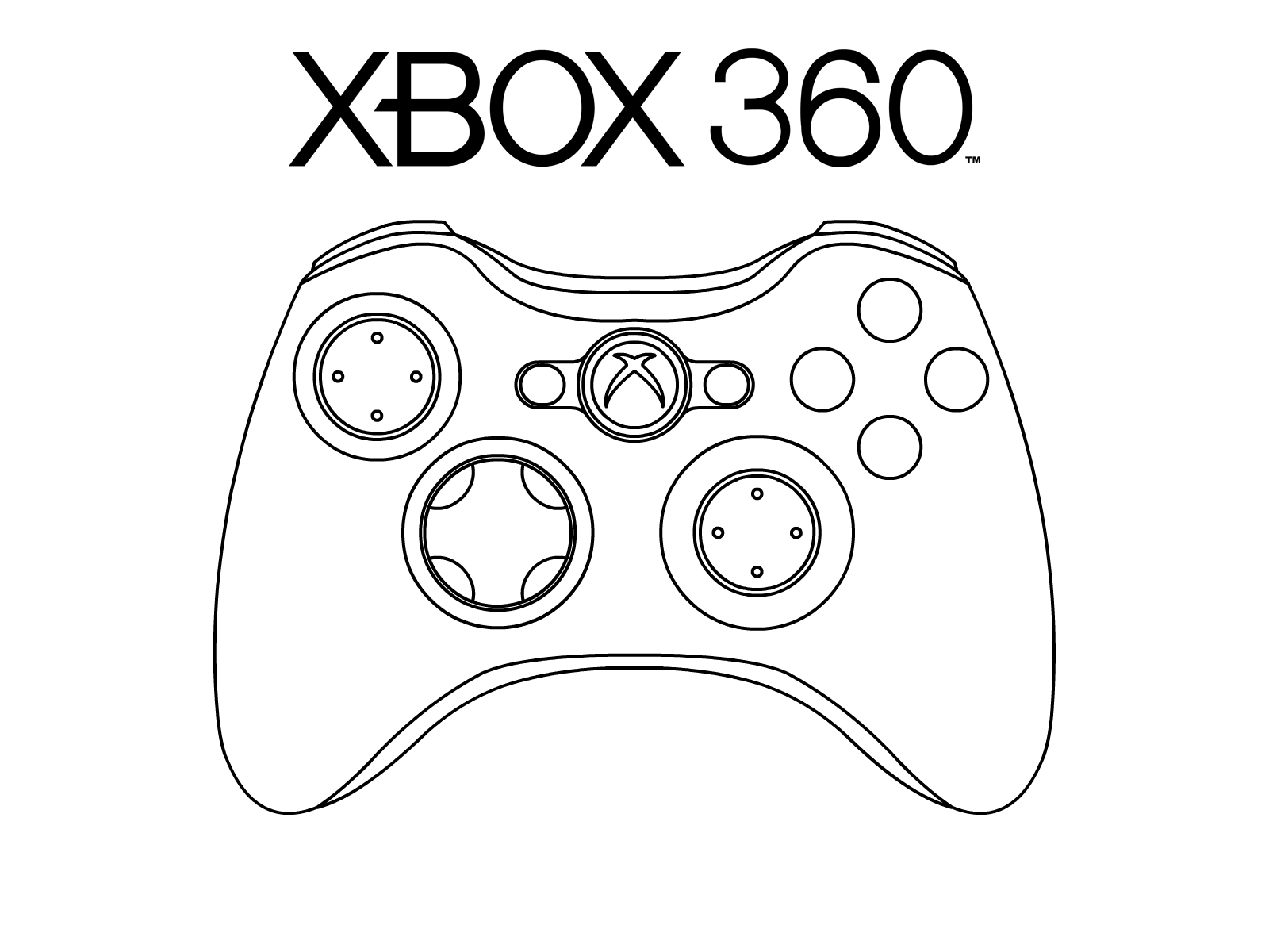 Xbox clipart joy stick. Controller black and white