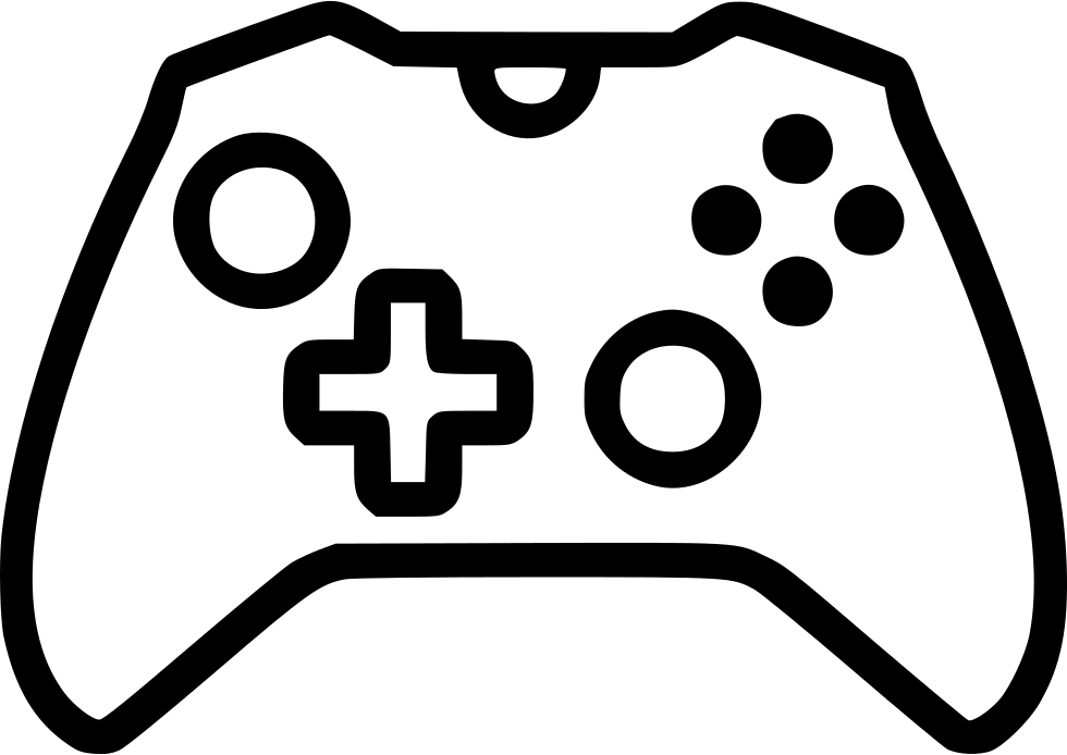 White controller png. Xbox one svg icon