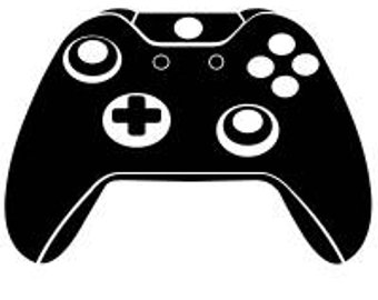 Xbox clipart svg. One controller silhouette at