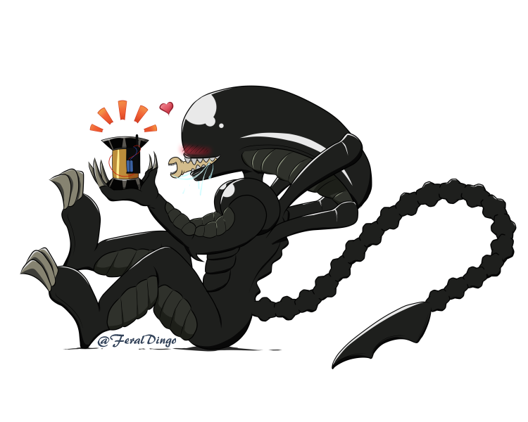 Xenomorph transparent alien isolation. By feraldingo on deviantart