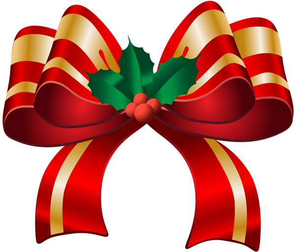 Holiday bow png. Christmas red transparent clip