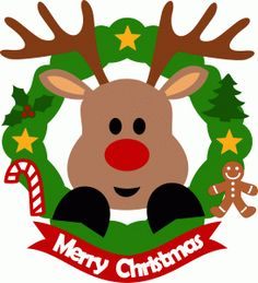 Xmas clipart design. Ppbn designs rudolph with