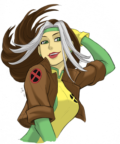 Xmen drawing bust. Rogue by kevinraganit on