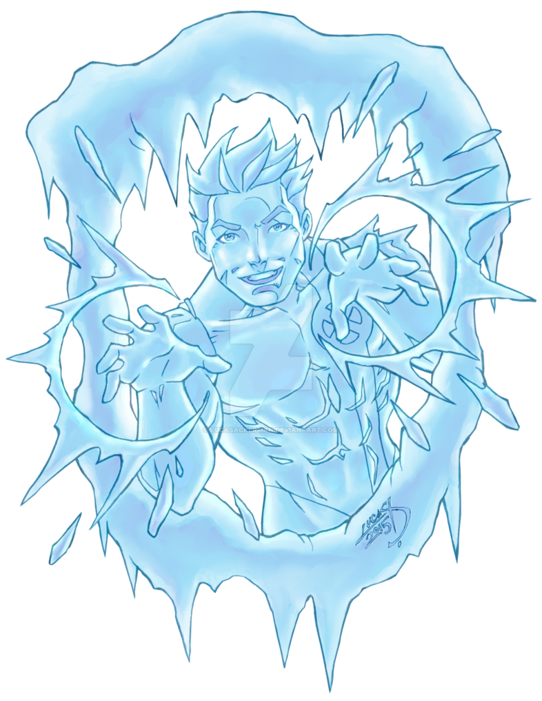 Xmen drawing ice man. Iceman colored by lucasackerman