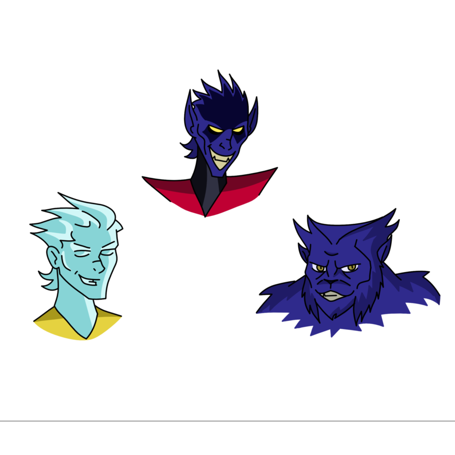 Xmen drawing ice man. X men nightcrawler and