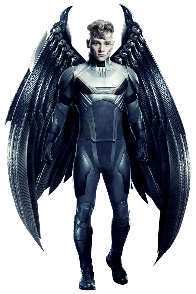 Xmen drawing movie. Archangel transparent background by
