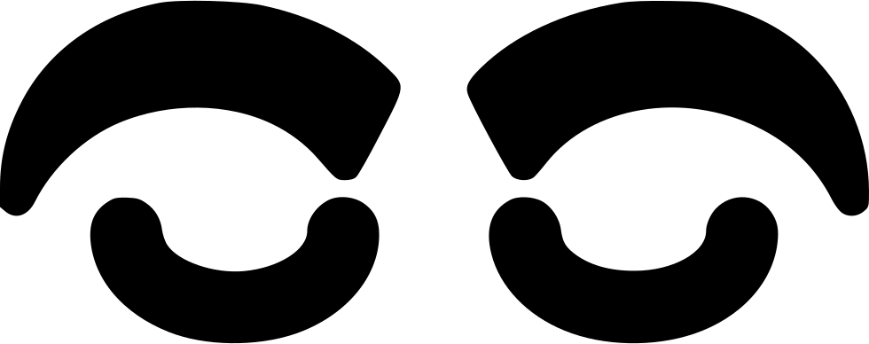 Xoxo svg black and white. Eyebrow png icon free