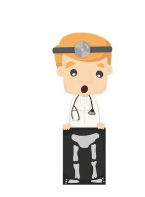 Xray clipart. Set of doctor characters