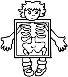Xray clipart black and white. X ray pencil in