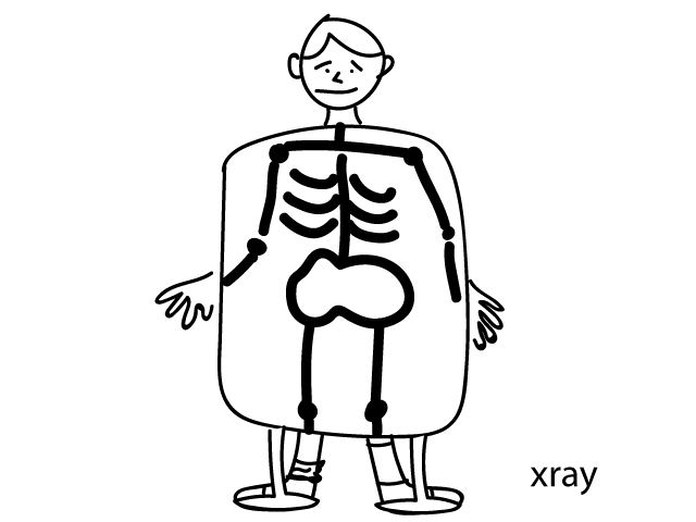 X is for stickyknowledge. Xray drawing clipart library library