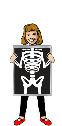 Xray drawing animated. Clipart female huge
