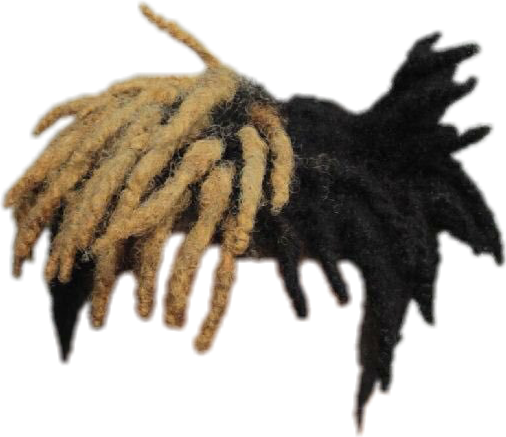 blonde dreads png