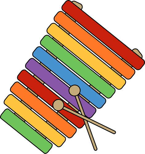 Xylophone clipart.