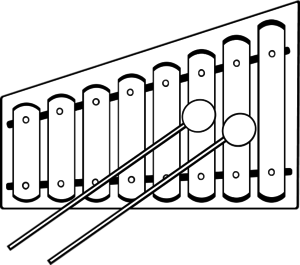 Xylophone drawing clip art. Collection of high