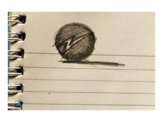Xylophone drawing pencil. Energy hand drawn icon