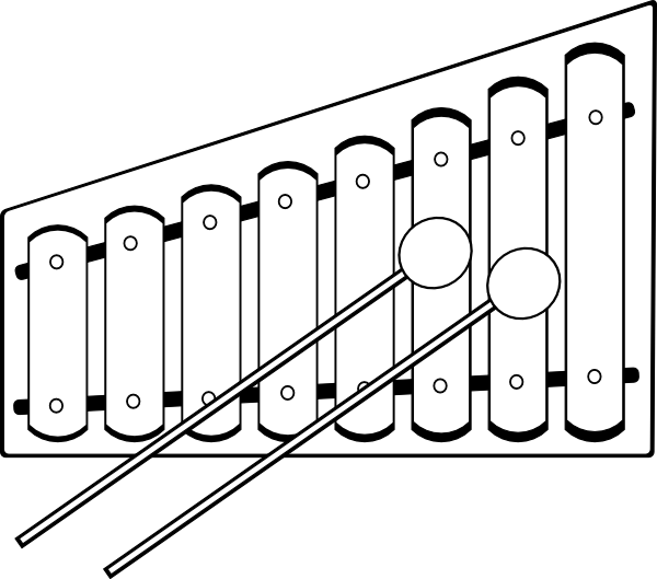 Xylophone drawing sketch. Clip art at clker