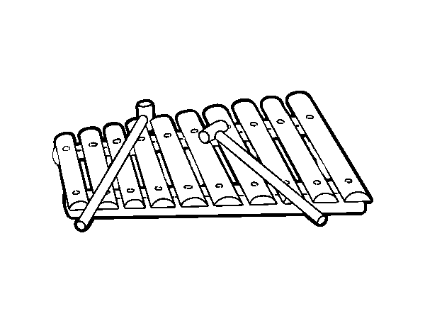 xylophone drawing colouring