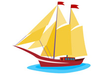Yacht clipart. Free boats and ships