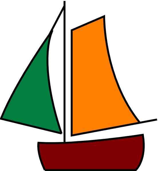 Yacht clipart colorful boat. Sailing white clip art
