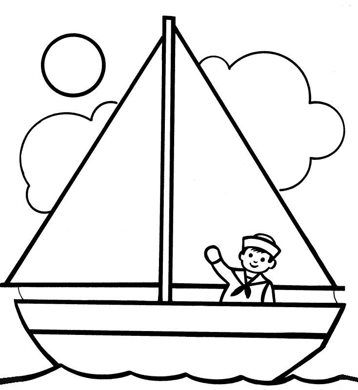 Yacht clipart little boat. Simple drawing at getdrawings